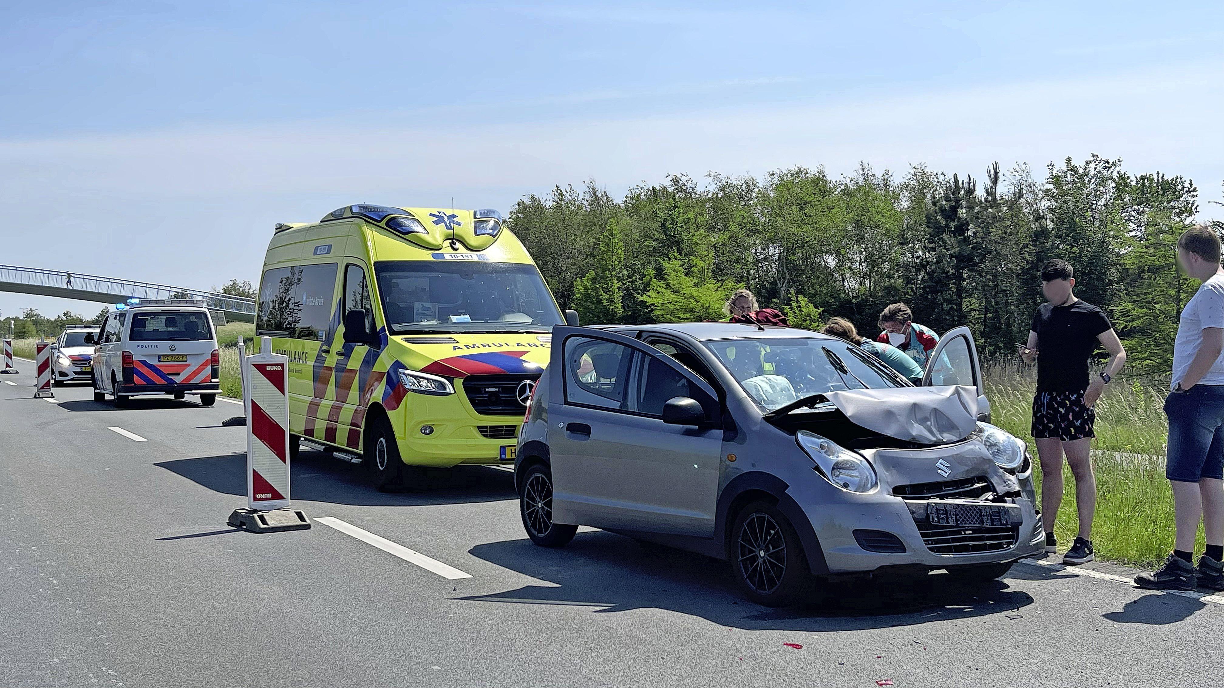 Twee gewonden bij kop-staartbotsing in Heerhugowaard