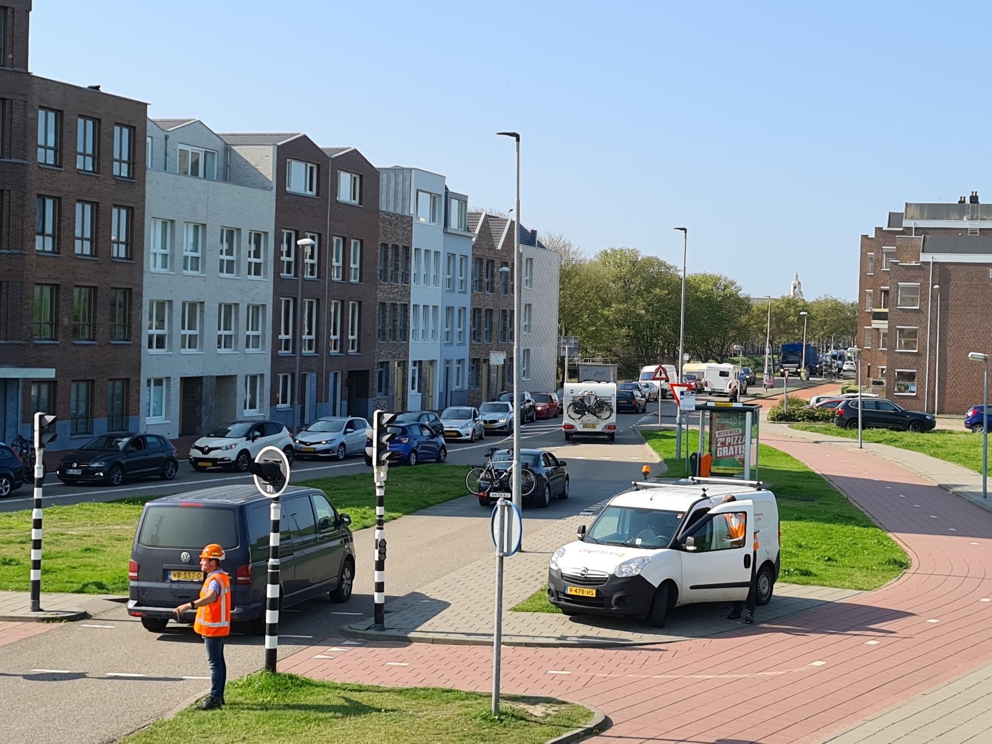 Filerijden in en om Den Helder door afsluiting Burgemeester Visserbrug. Omrijden duurt nog tot 31 oktober