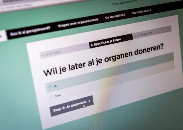 Meer dan helft geregistreerde inwoners Noordkop geeft toestemming voor orgaandonatie. In Den Helder wonen de meeste weigeraars