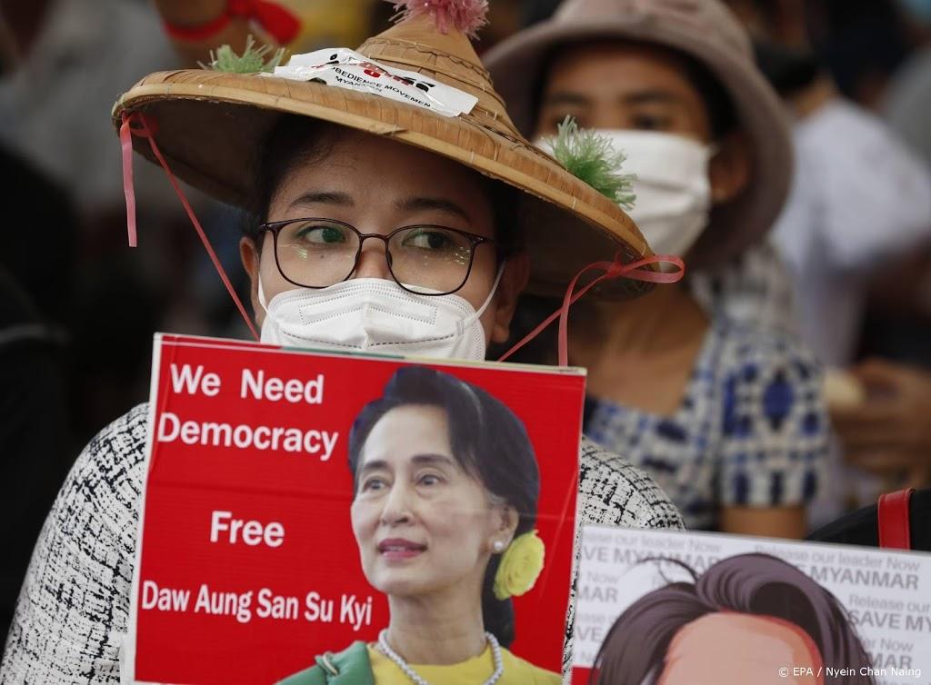 Afgezette Myanmarese leider Suu Kyi voor de rechter verschenen