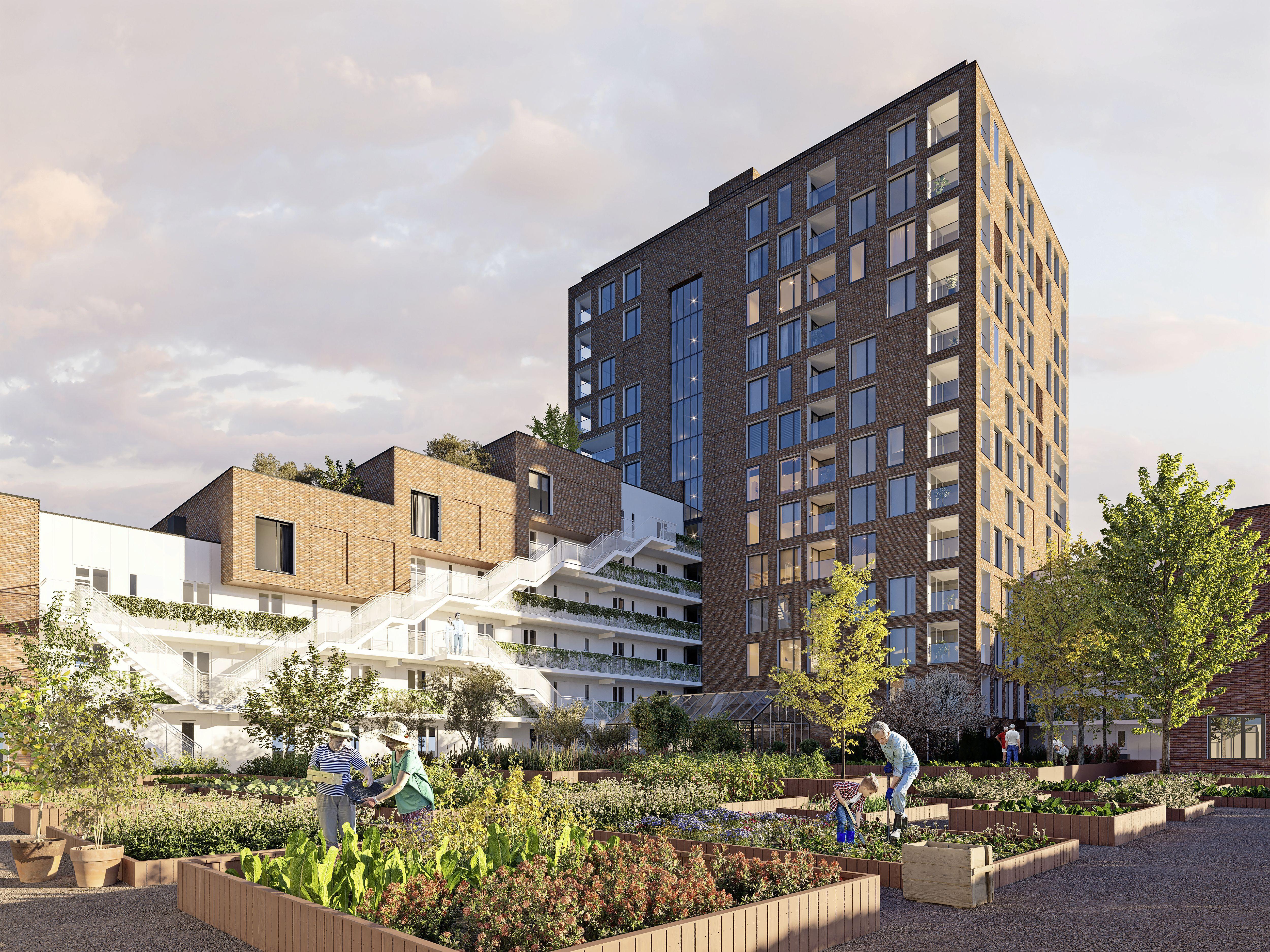 'Groen hart' in Leiden Zuidwest: Op Scal-locatie moet appartementencomplex met eigen ecosysteem verrijzen