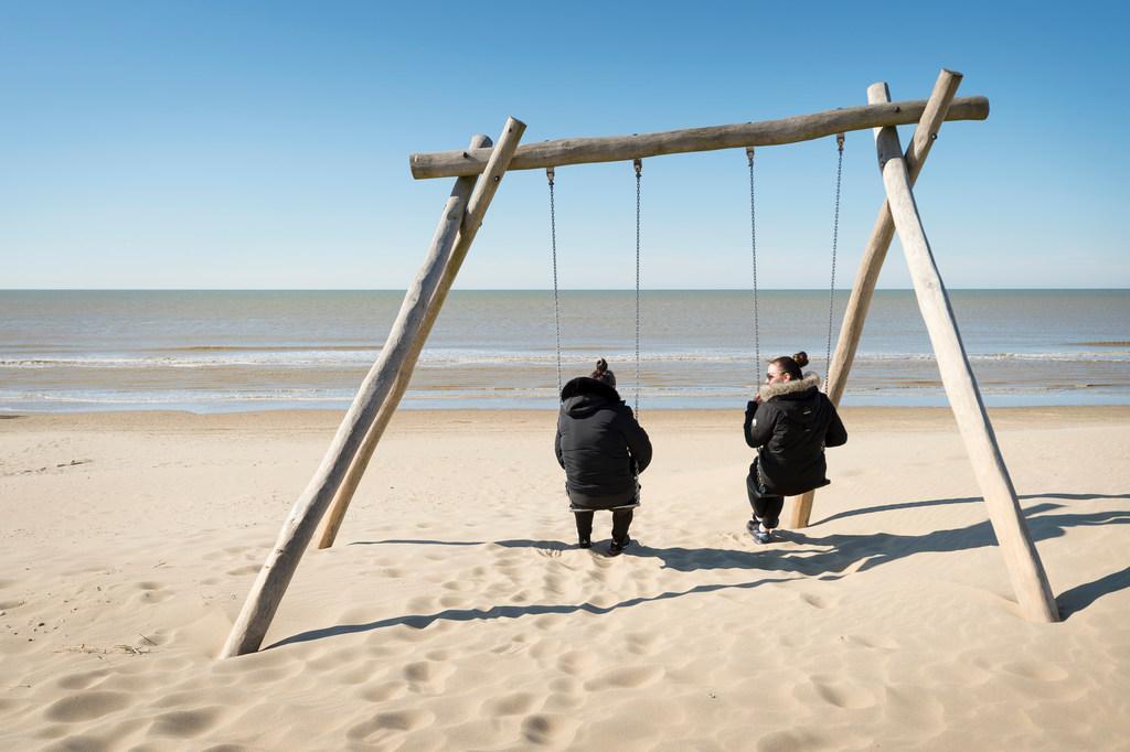 Ook zondag rustig op de Nederlandse stranden