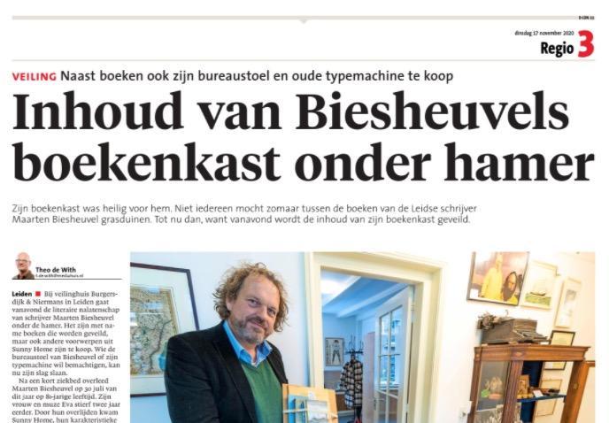 Verkeerde pagina in een deel van Leidsch Dagblad