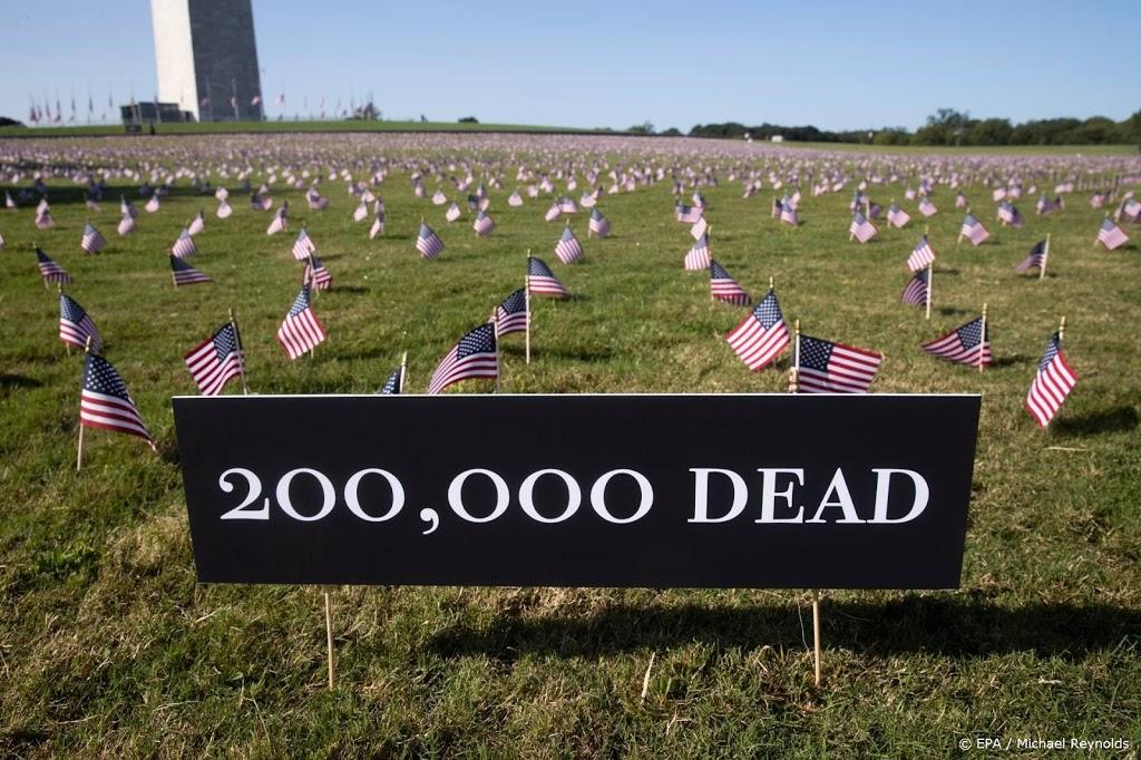 Corona-epidemie eist meer dan 200.000 levens in Verenigde Staten