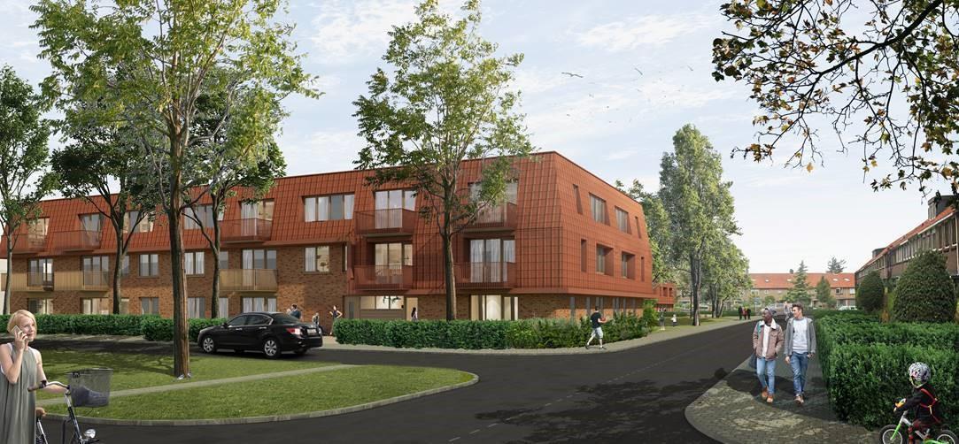 Aan de Lieven de Keylaan in Hilversum verrijzen negen eengezinswoningen en 25 appartementen; 'Mooi, duurzaam en betaalbaar voor een sociale doelgroep'