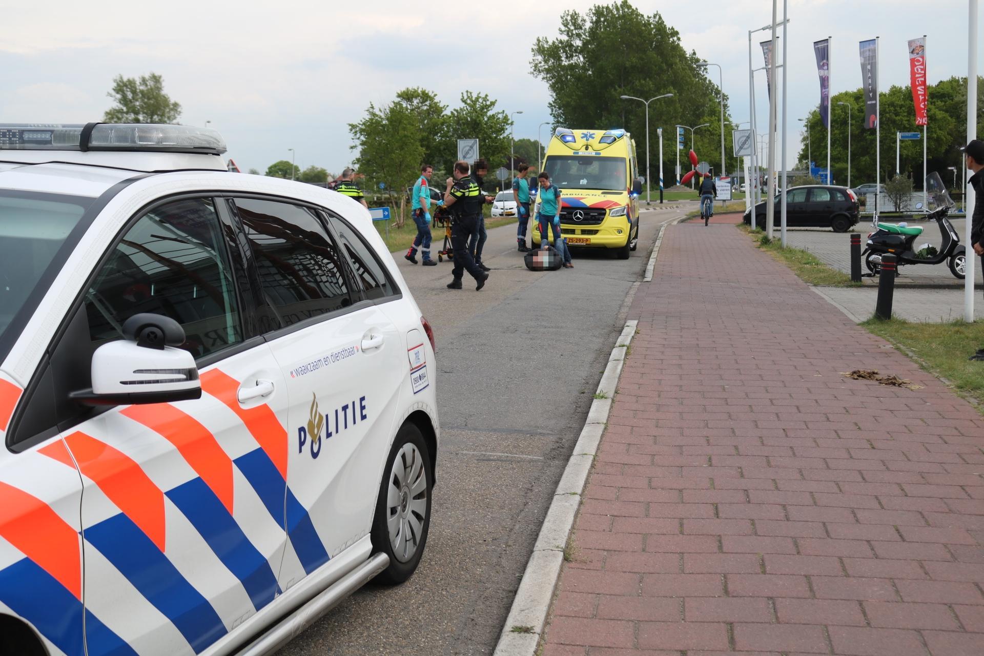 Gewonden bij val met scooter in Noordwijkerhout