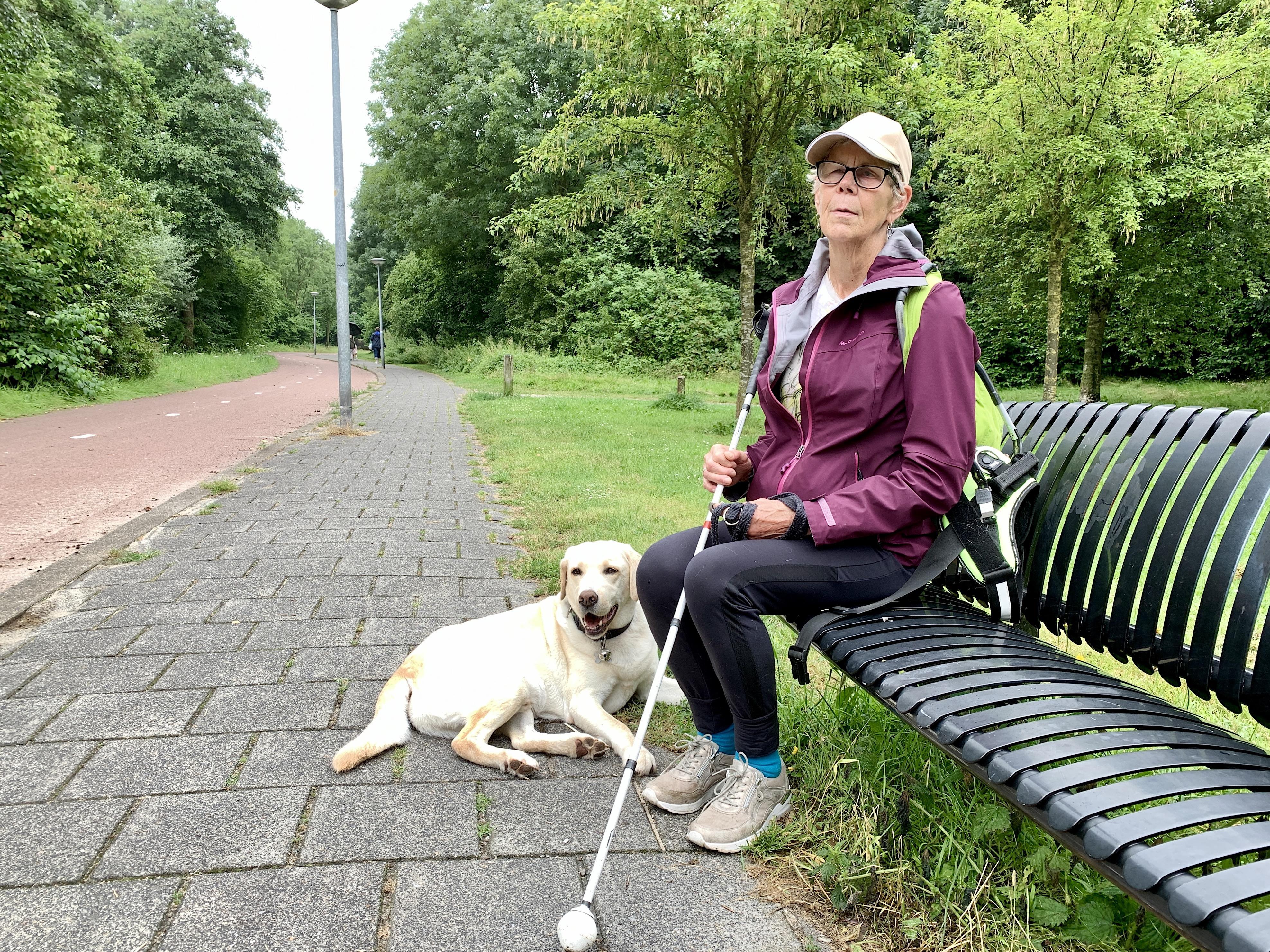 'Kwaad of gefrustreerd? Nooit last van gehad. Hooguit wat irritatie'. Aldus Toos (74) uit Alkmaar die een zichtvermogen van slechts drie procent heeft.
