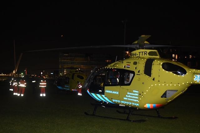 Eén persoon gereanimeerd na aanvaring vrachtschip en sloep in Valkenburg, zeven mensen te water