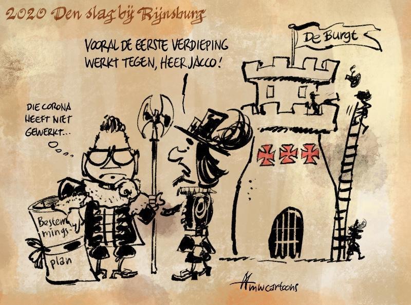 Cartoon: Ondernemers De Burgt onaangenaam verrast