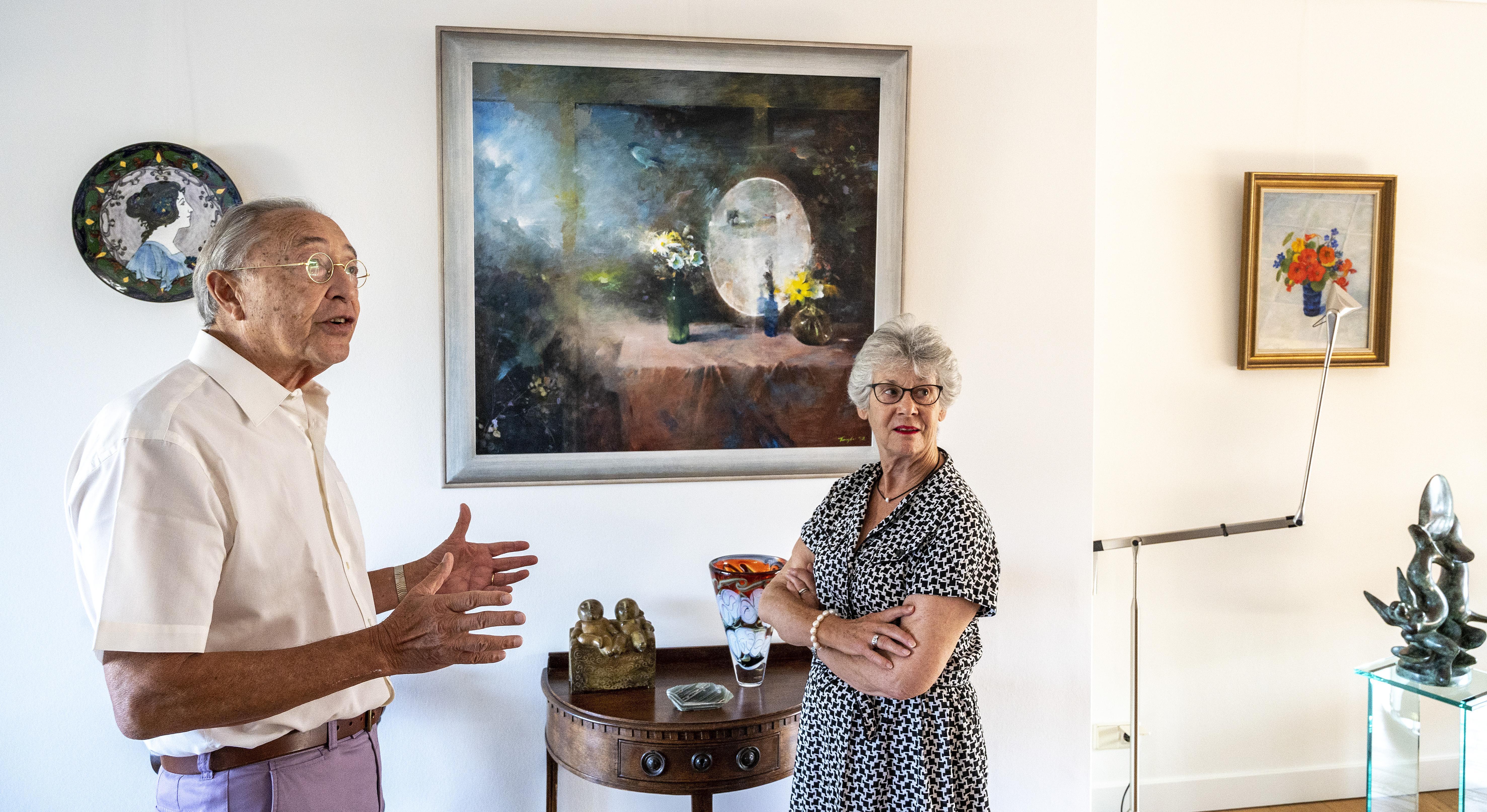 Haarlemmers Ruud en Marga Lapré over een kwart eeuw liefde voor kunst, kunstenaars en elkaar; 'We kopen voortdurend emotie'