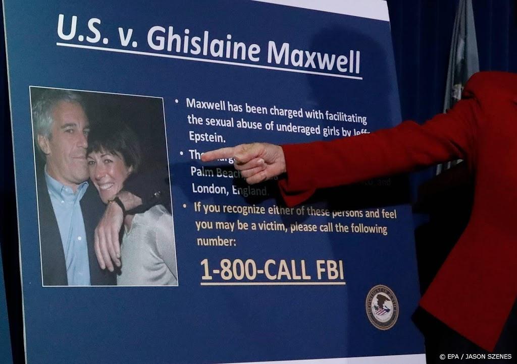 Epstein-vertrouweling Maxwell in 2016: ik zag geen wangedrag