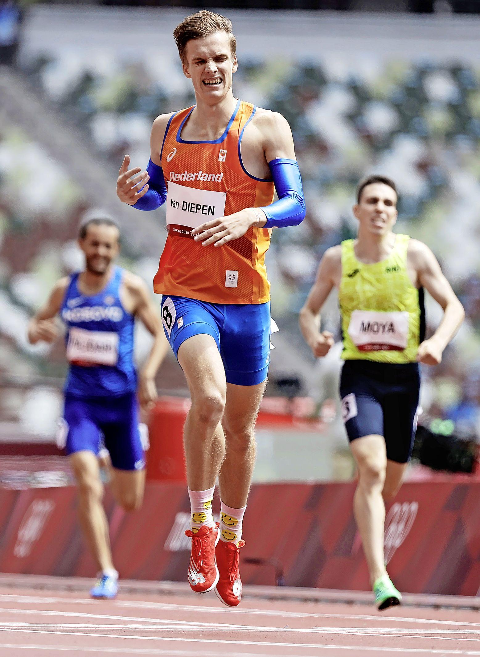 Machteloze Van Diepen mist halve finales 800 meter