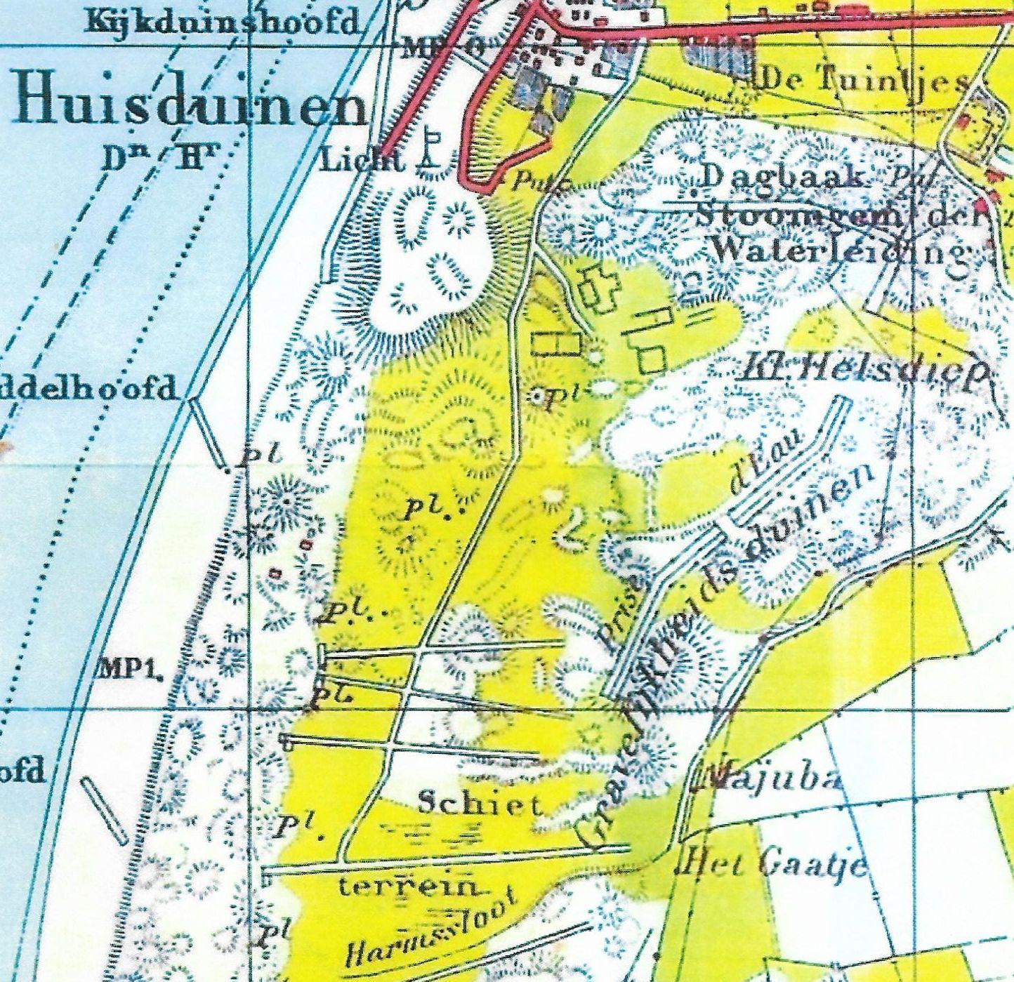 Hoe Oogduinen de Donkere Duinen werden; even terug naar de tijd toen Huisduinen nog een eiland was