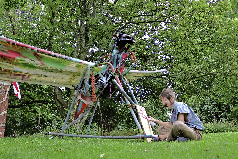 Nieuwe kunst op Bolwerk in Alkmaar uit protest tegen vernielingen Tiergarten