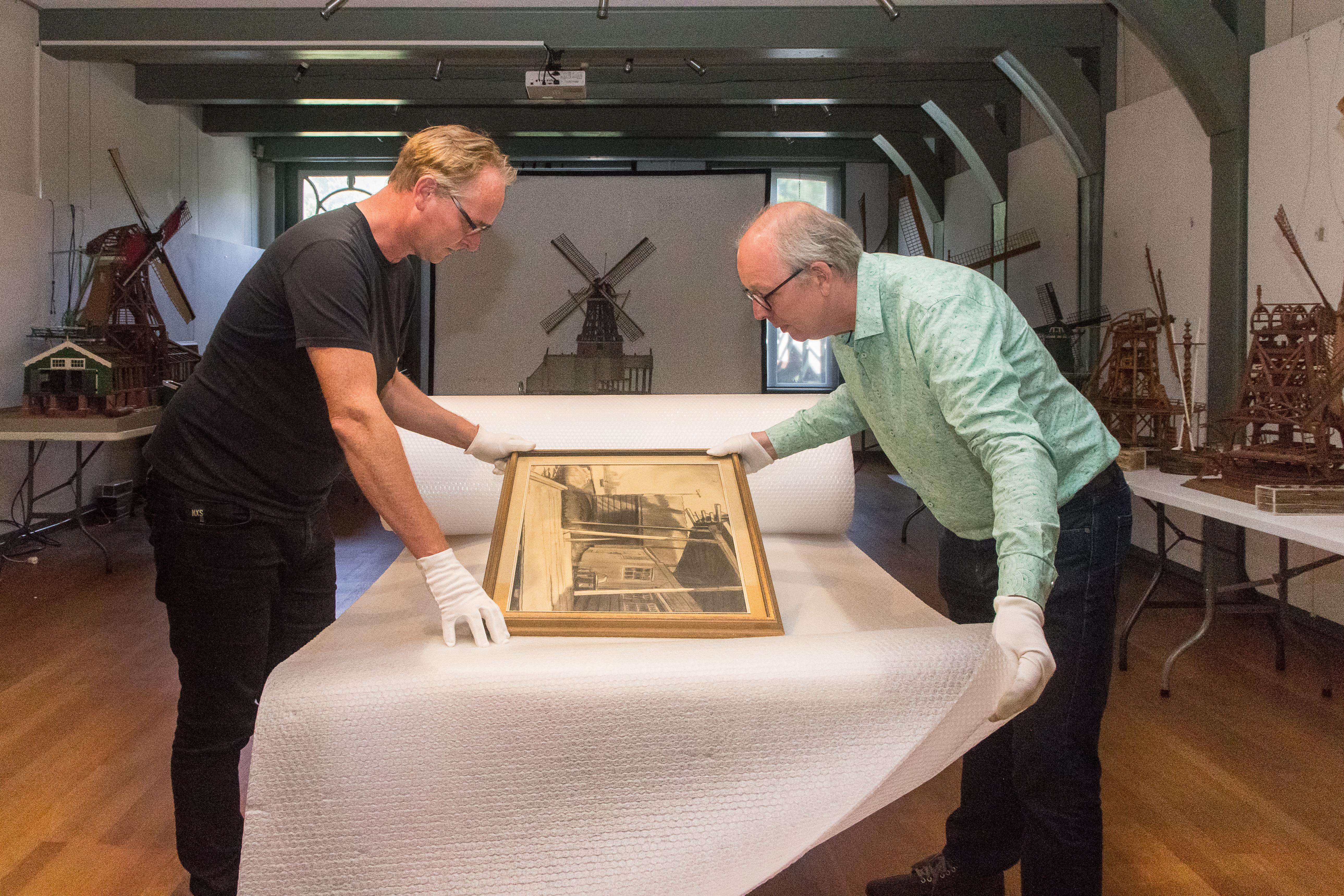 Conservator Molenmuseum kan wakker liggen van verhuizing molenmodel