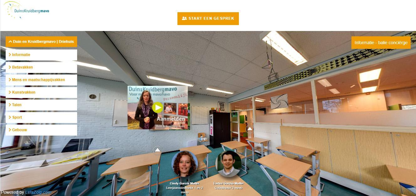 Via chatten en filmpjes een indruk krijgen van middelbare scholen in de IJmond tijdens de online open dagen. 'Het was absoluut heel apart'