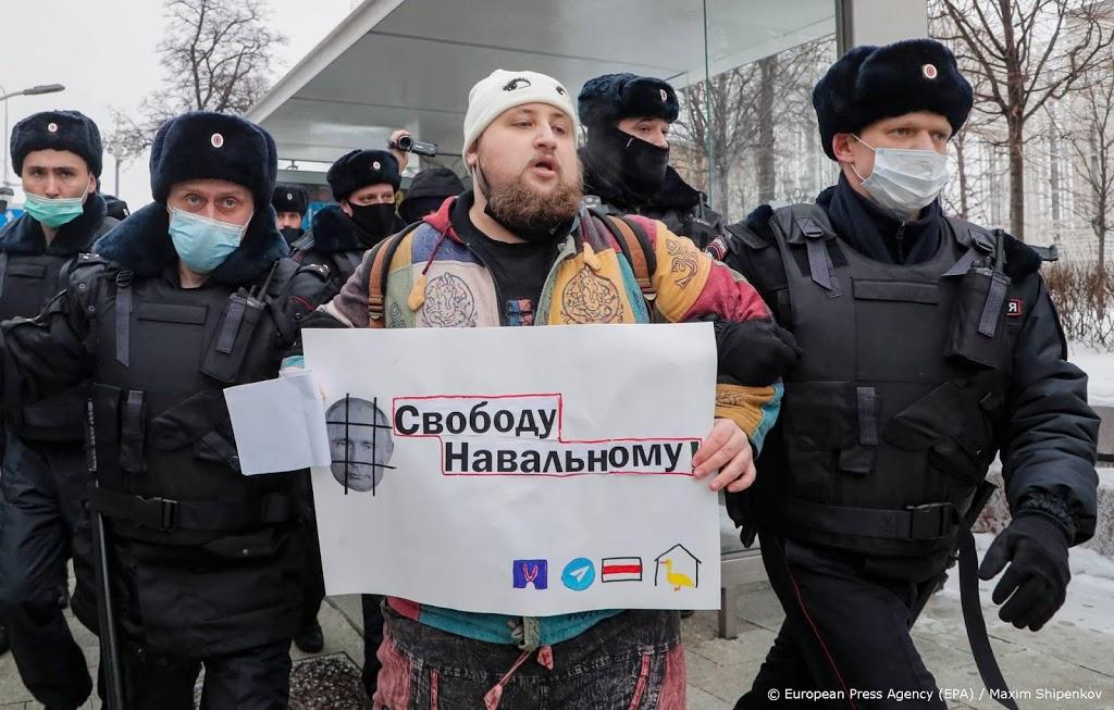 Aanhangers Navalni aangehouden bij protesten in Rusland