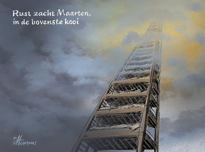 Cartoon: Rust zacht Maarten Biesheuvel
