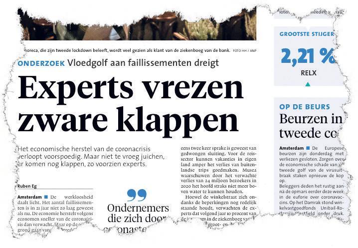 Robbert Peek uit Bergen beschrijft alle mogelijkheden voor doorstart van failliet bedrijf: 'Denk bij de start ook aan einde'
