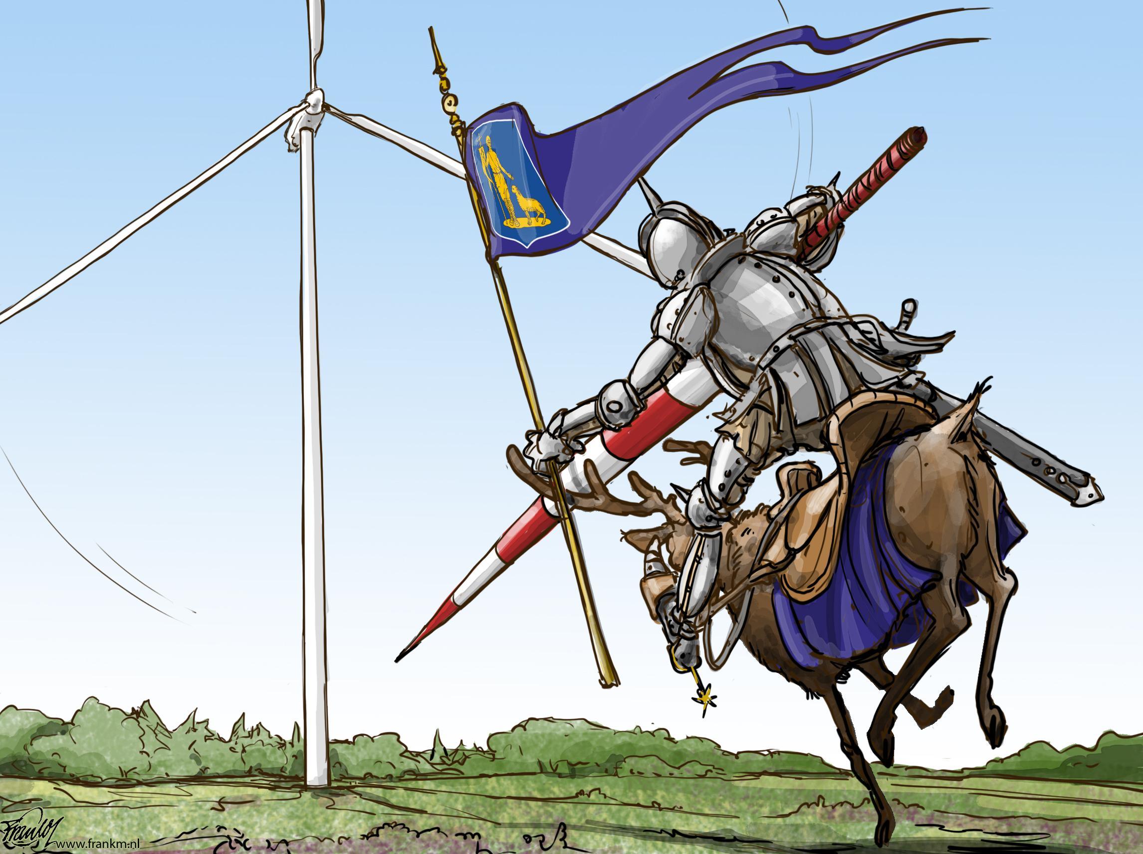 Lage Vuursche wil vechten tegen windmolens | cartoon Muntjewerf