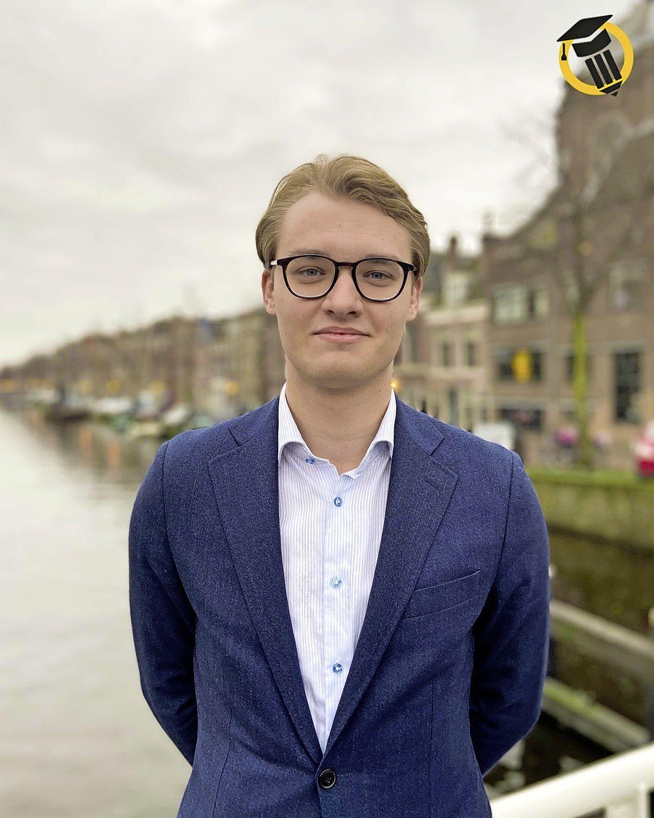 Mitchell Wiegand Bruss lijsttrekker Studenten voor Leiden