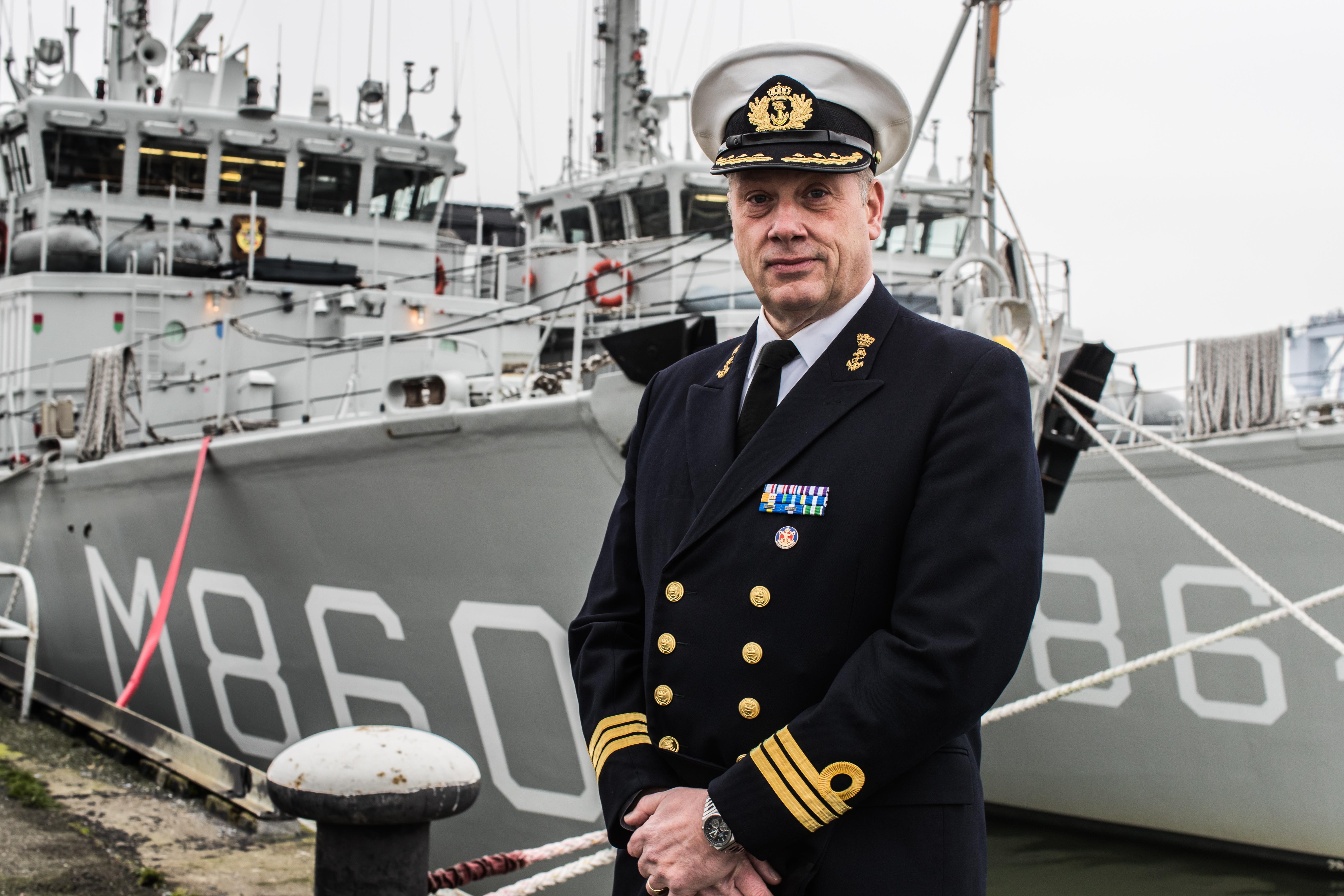 Koninklijke Marine neemt de leiding over van de explosievenopruimingsvloot in de Noordzee en Oostzee