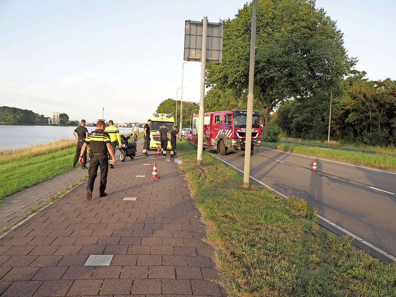 Scooterrijder aangehouden bij ongeval in Velsen-Zuid