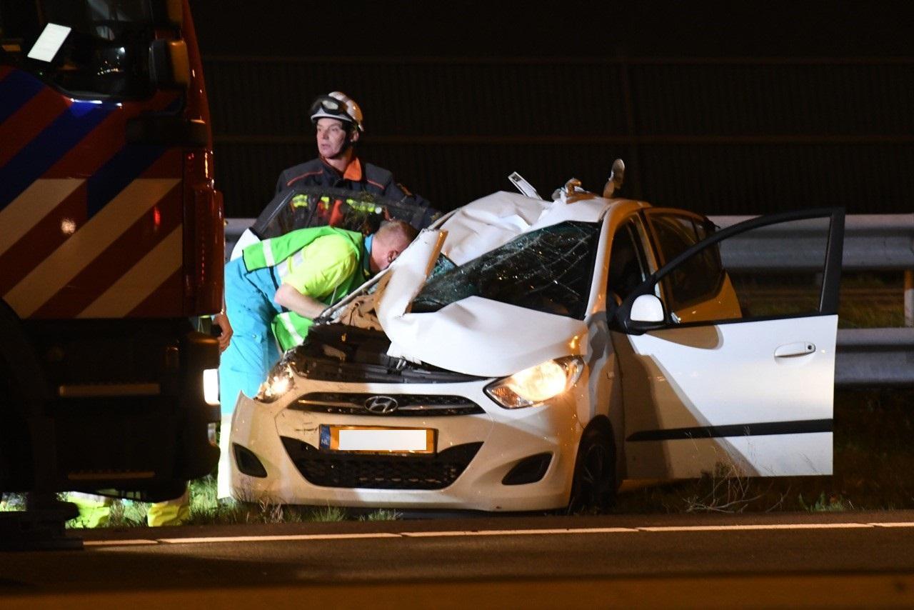 Twee gewonden bij ongeval op A4 bij Leiden, bestuurder onder invloed aangehouden