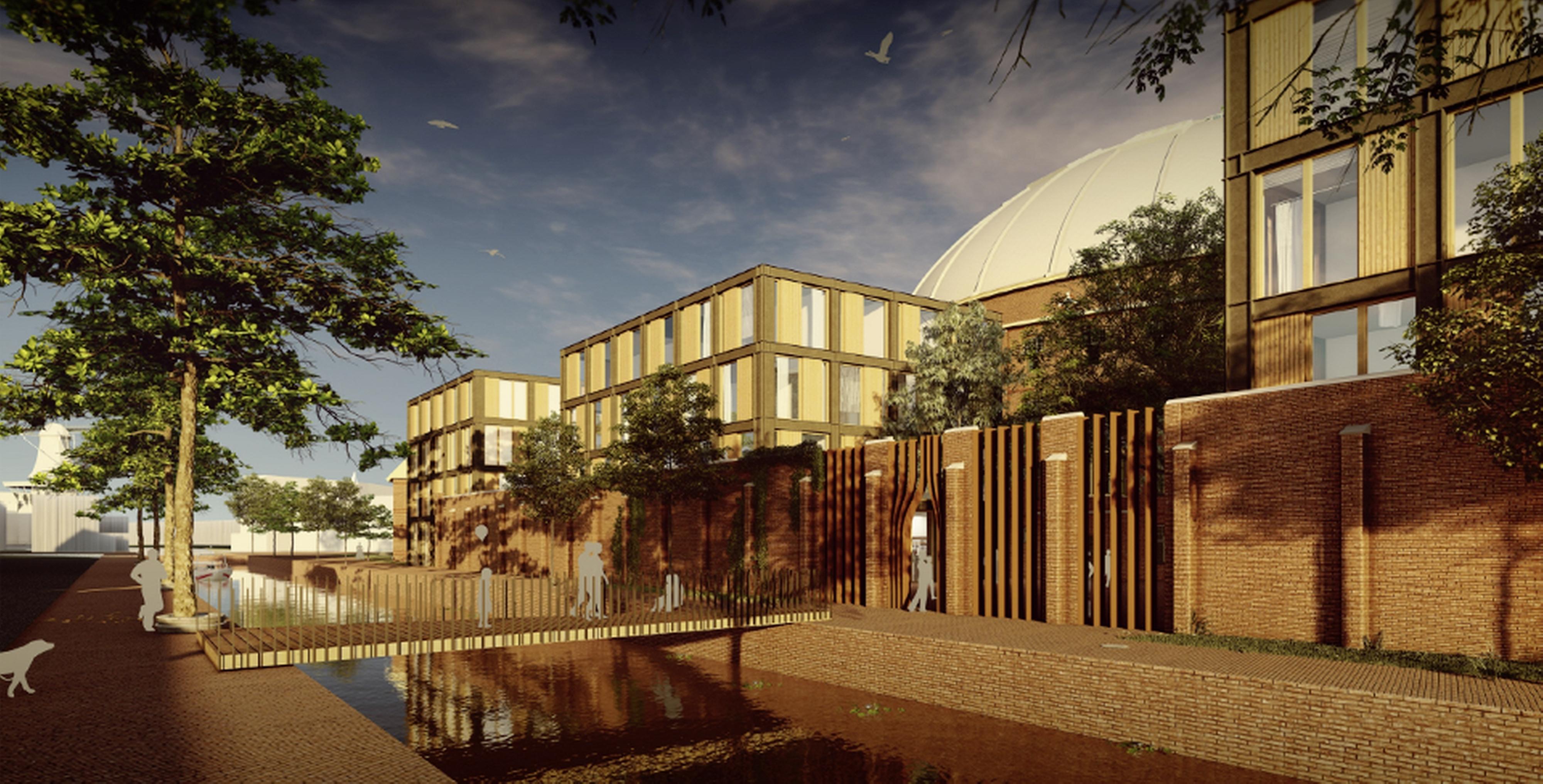 Koepel wordt verbouwd tot mini-campus; 'Een dynamische mix tussen werken, studeren en vertier'