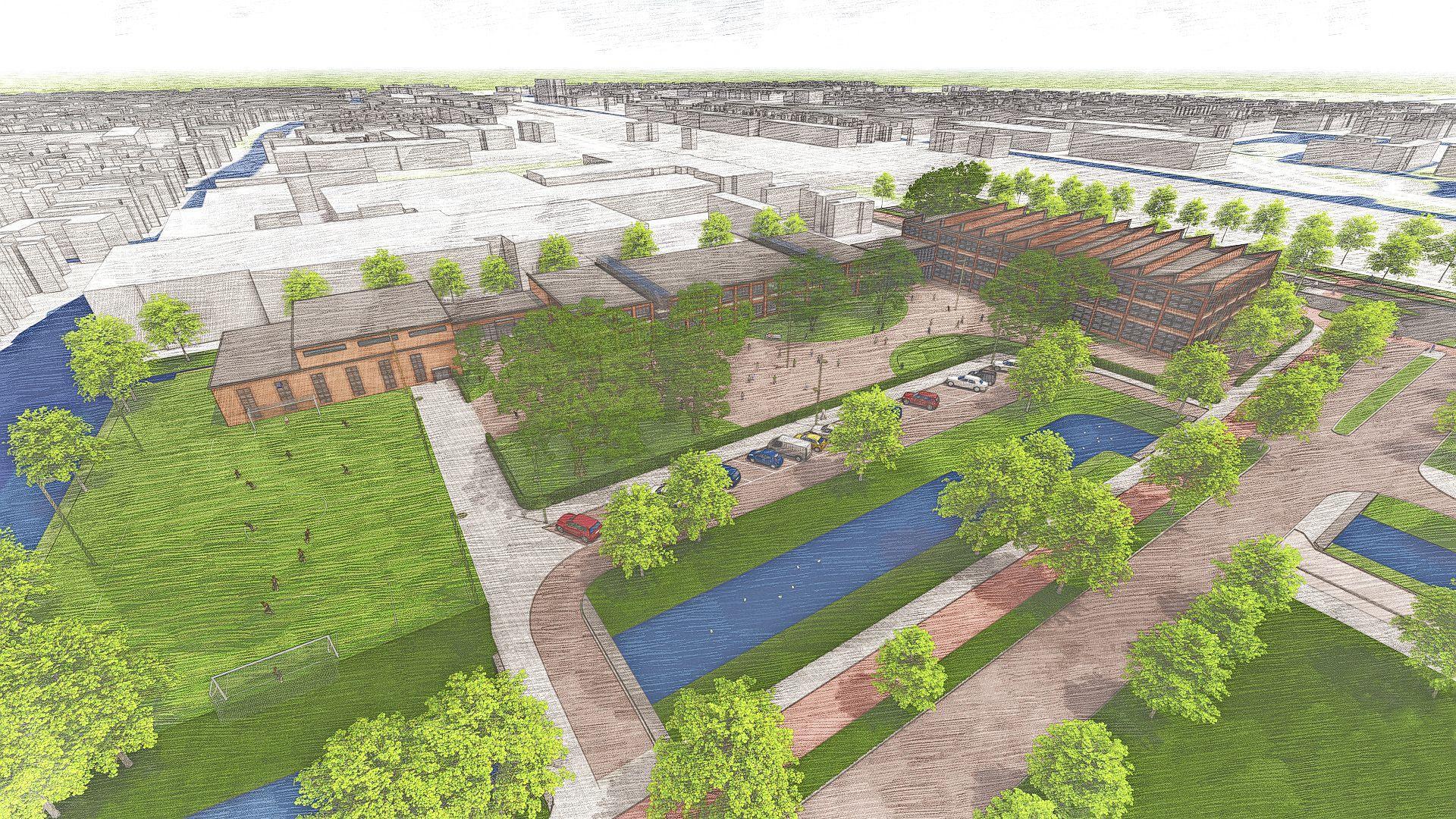 Europese school kan zich in Zaandam vestigen op voormalig sportterrein van Verkade. Zaanstad wil hiermee Alkmaar aftroeven