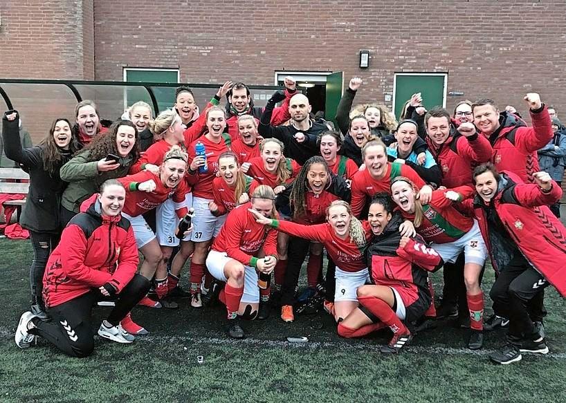 Voetbalsters van DSS volgend seizoen op hoogste amateurniveau actief