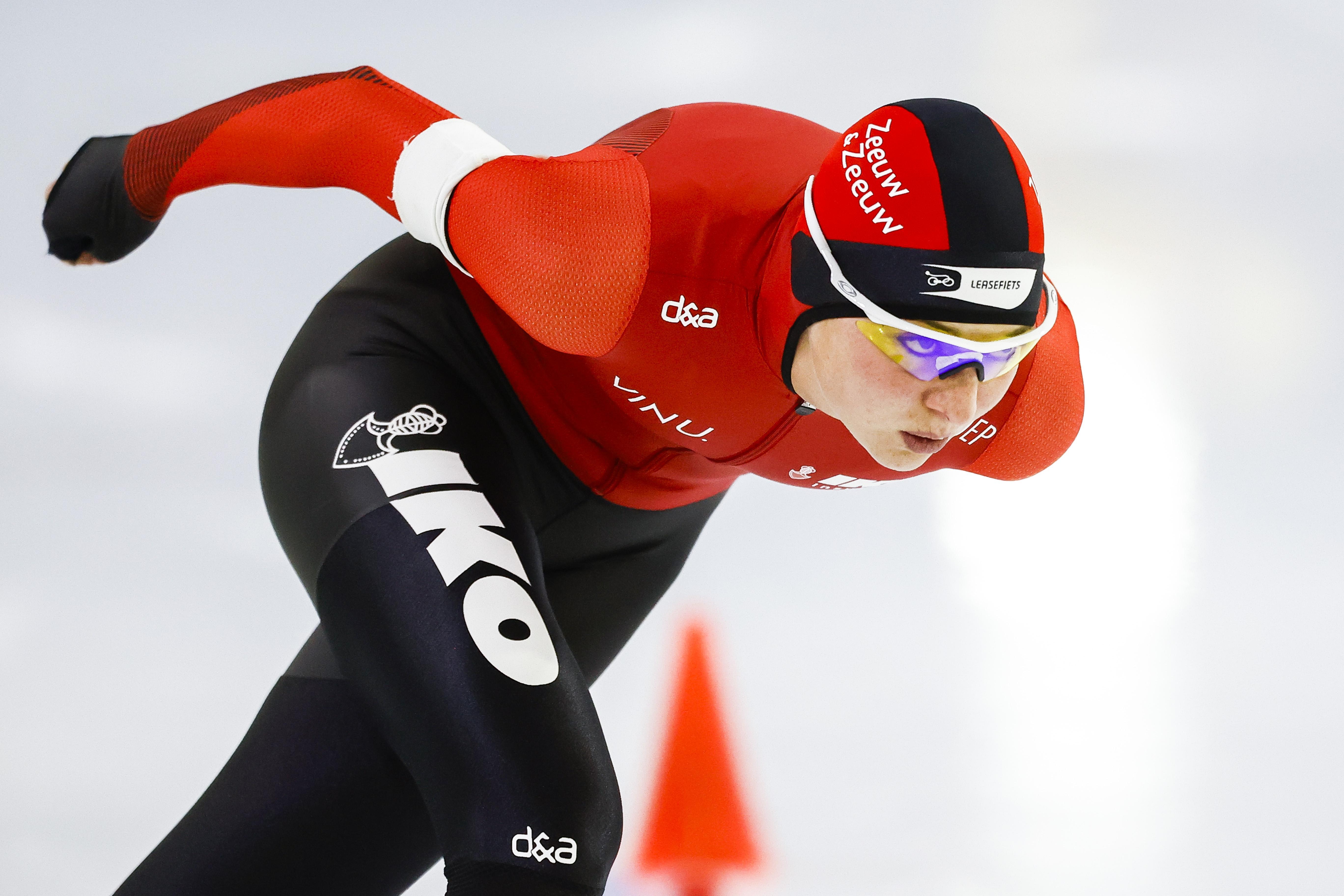 'Het is nog steeds gek, maar ik ben allang blij dat we weer een echte wedstrijd kunnen schaatsen', zegt Melissa Wijfje