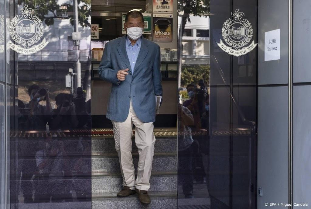 Mediamagnaat Jimmy Lai krijgt celstraf voor protesten Hongkong