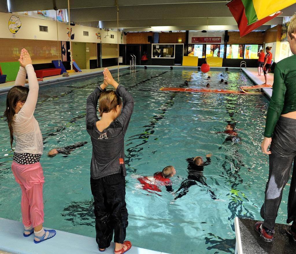'Natte gym' in zwembad op Wieringen