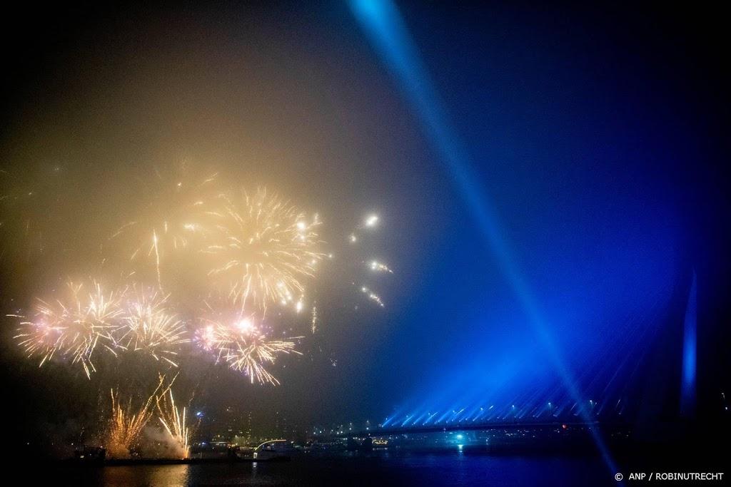 Streep door vuurwerkshows Rotterdam door corona