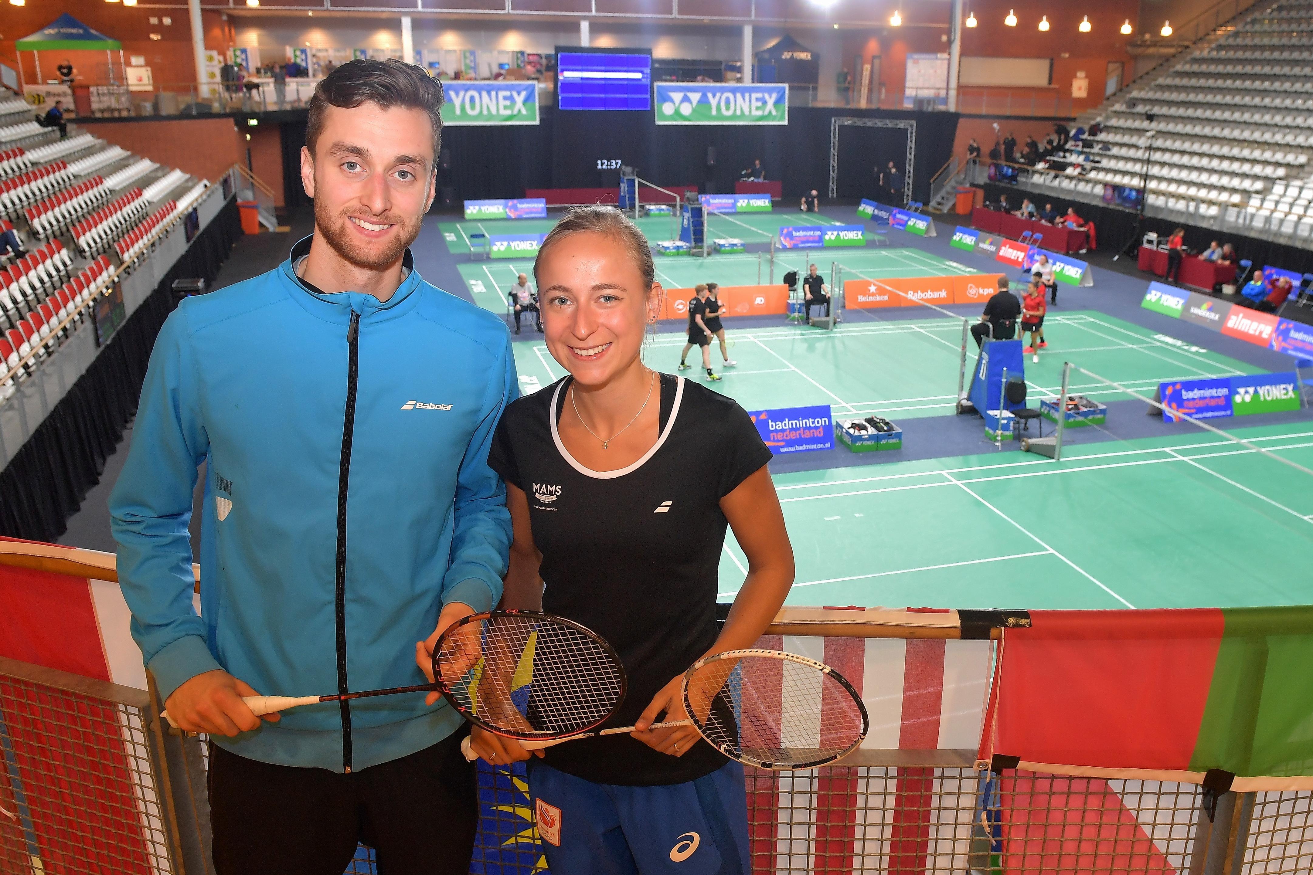Haarlemse badmintonner met partner Piek als derde geplaatst