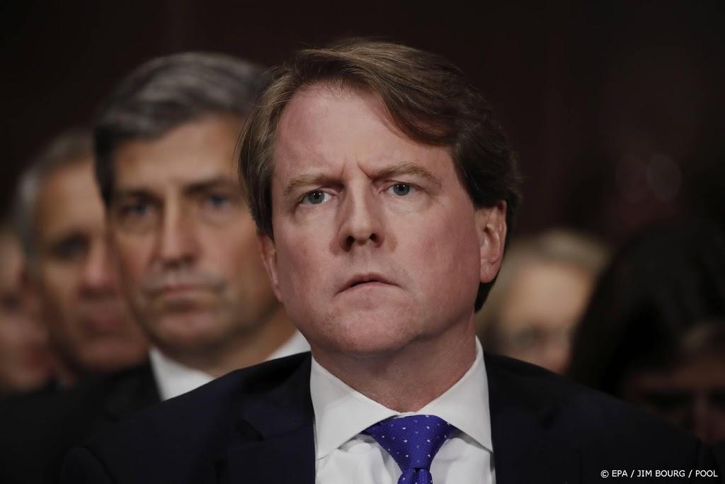 Oud-juridisch adviseur Trump getuigt voor Congres