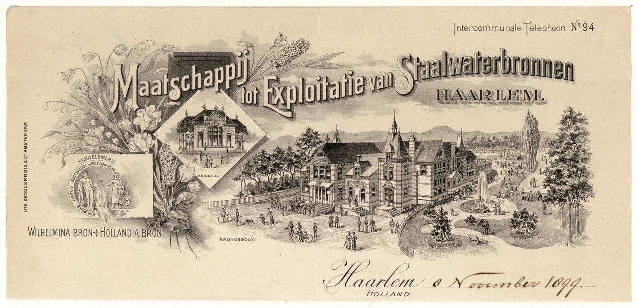 Haarlem was in de 19e eeuw een kuuroord, maar de Europese beau monde wist het elegante badhuis niet te vinden