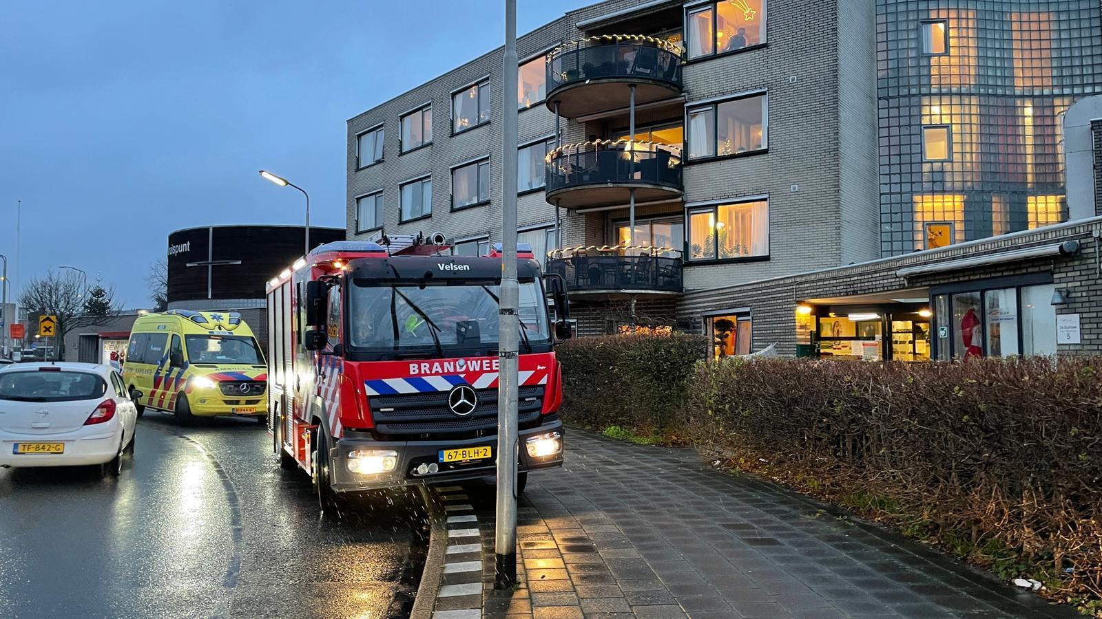 Oudere vrouw gewond bij brand in woonzorgcomplex Velserbroek