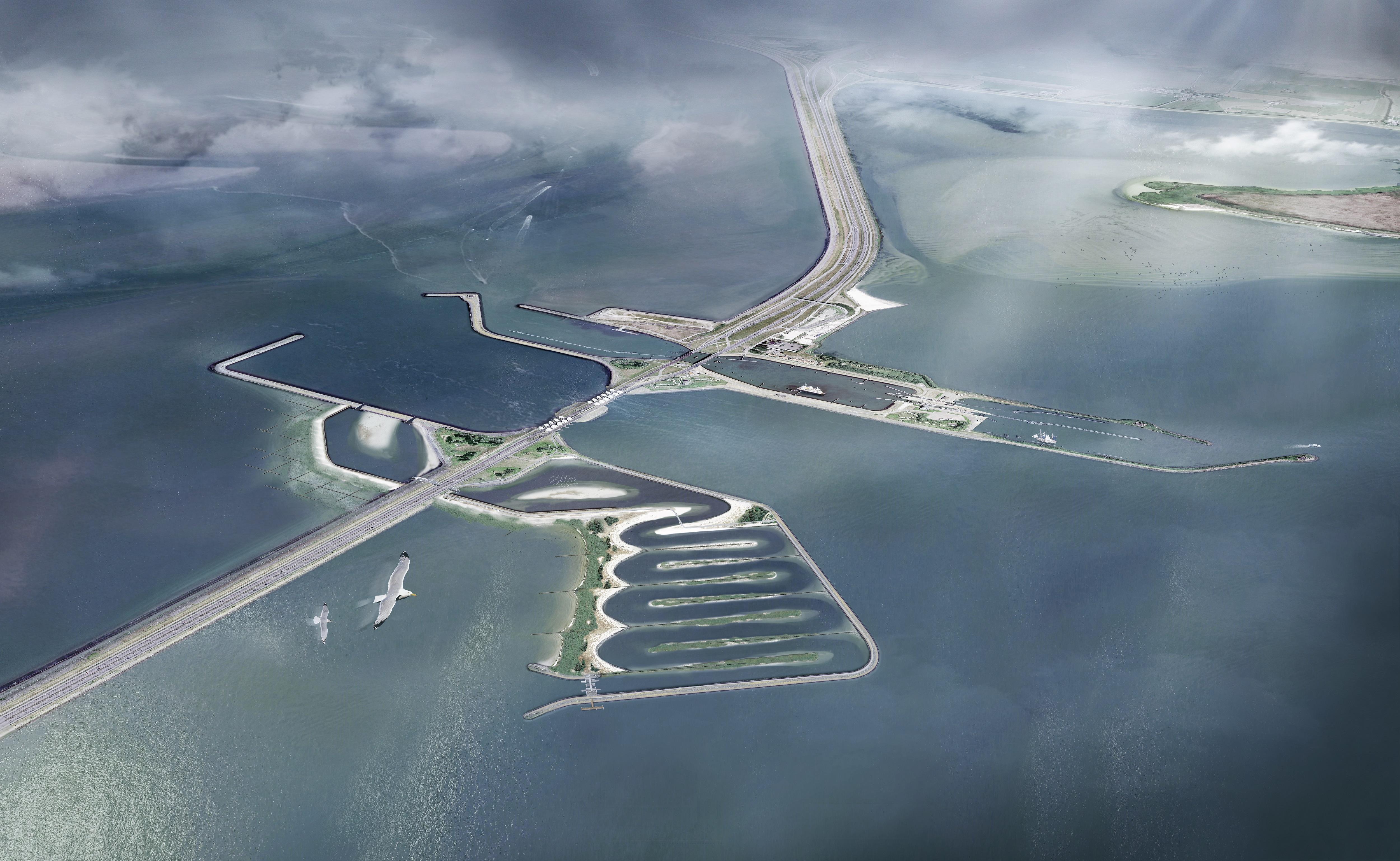 Begin gemaakt met gat in de Afsluitdijk: over vier jaar moet vispassage klaar zijn [video]