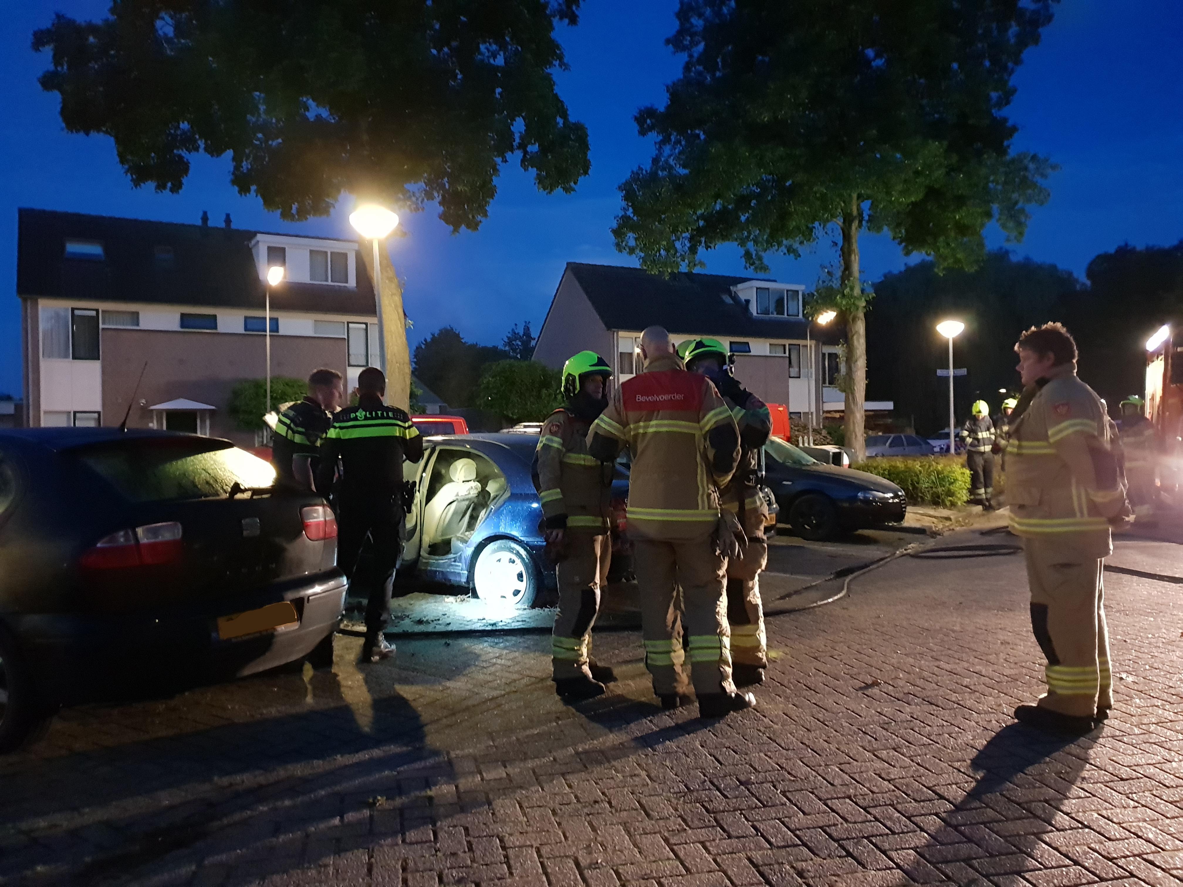 Auto verloren gegaan bij brand in Stompetoren