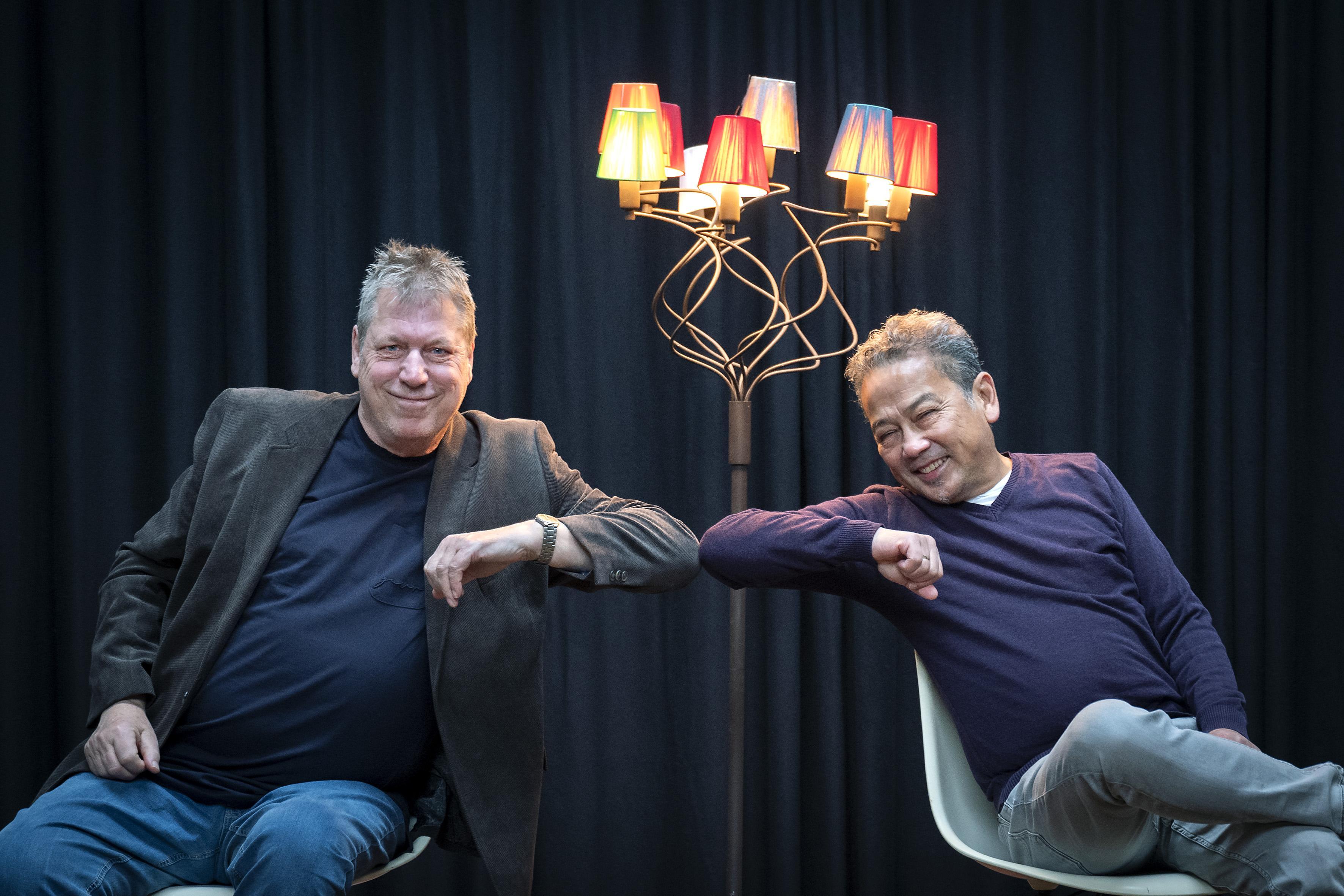 Blues-gitaristen Frans ten Kleij en Johnny Laporte spelen benefietconcerten voor Haarlems muziekpodium Patronaat