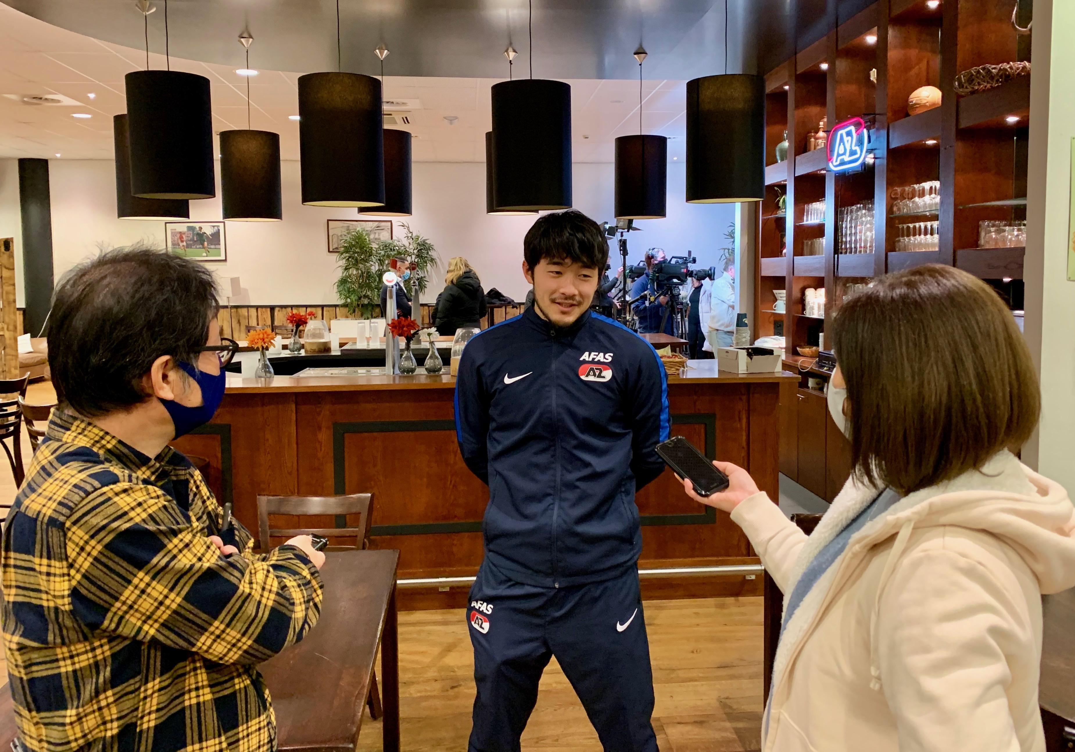 Eindelijk heeft 'Yuki' na wedstrijden van AZ een ander verhaal voor zijn trouwe Japanse volgers