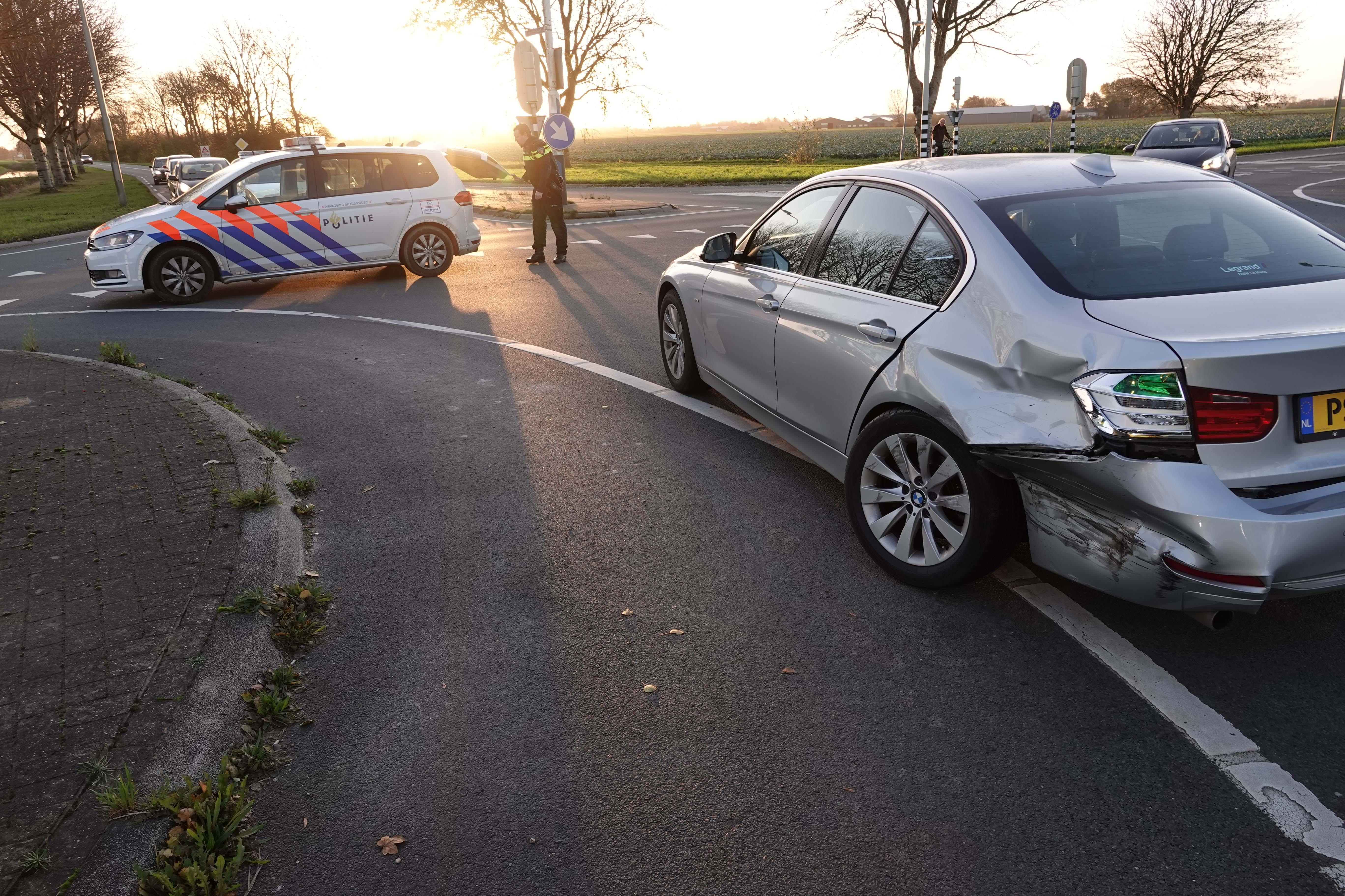 Gewonde bij auto-ongeluk op de N245 bij Oudkarspel