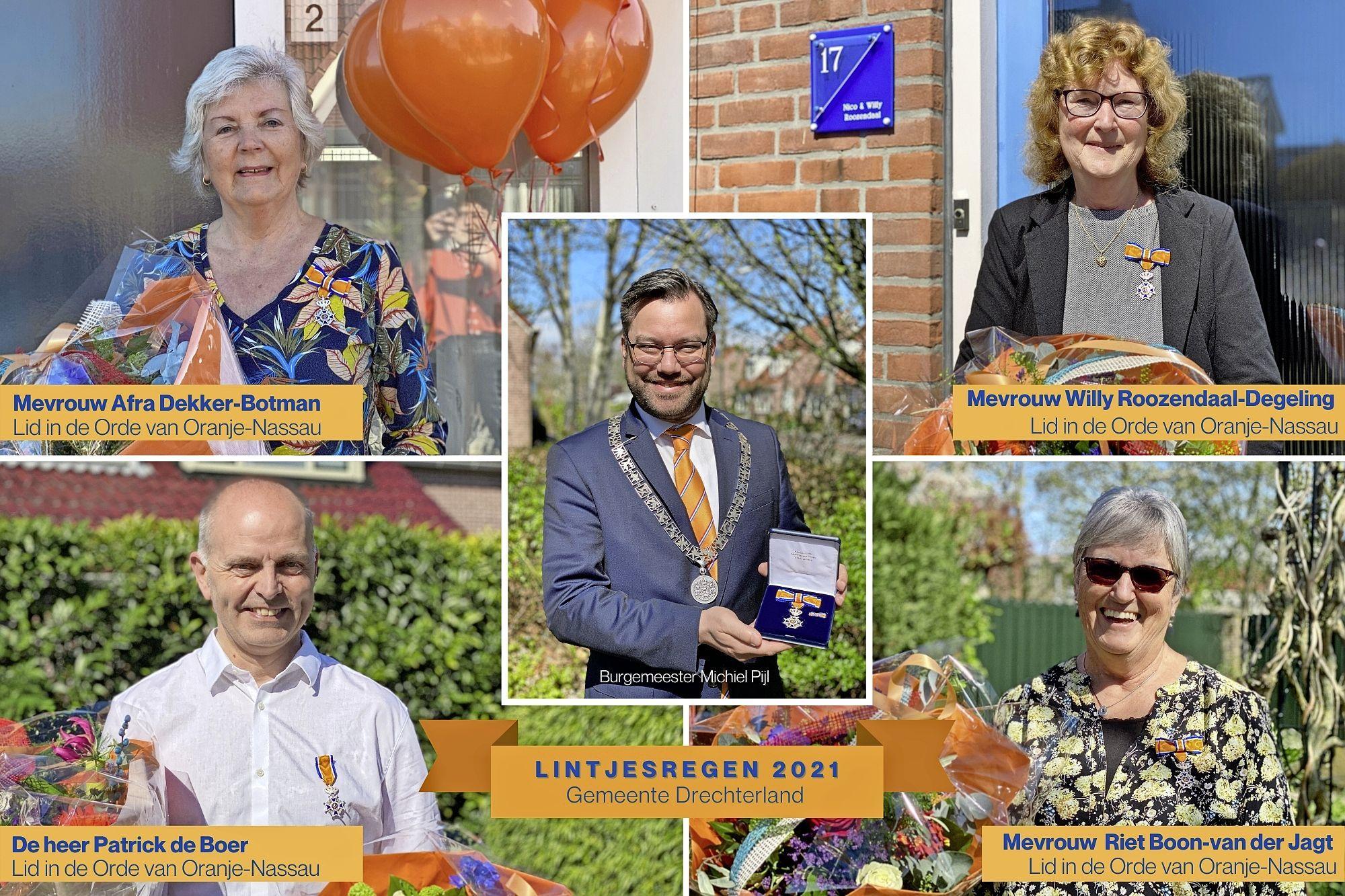 Zes lintjes in Drechterland: 'U heeft veel mensen een plezier gedaan!'