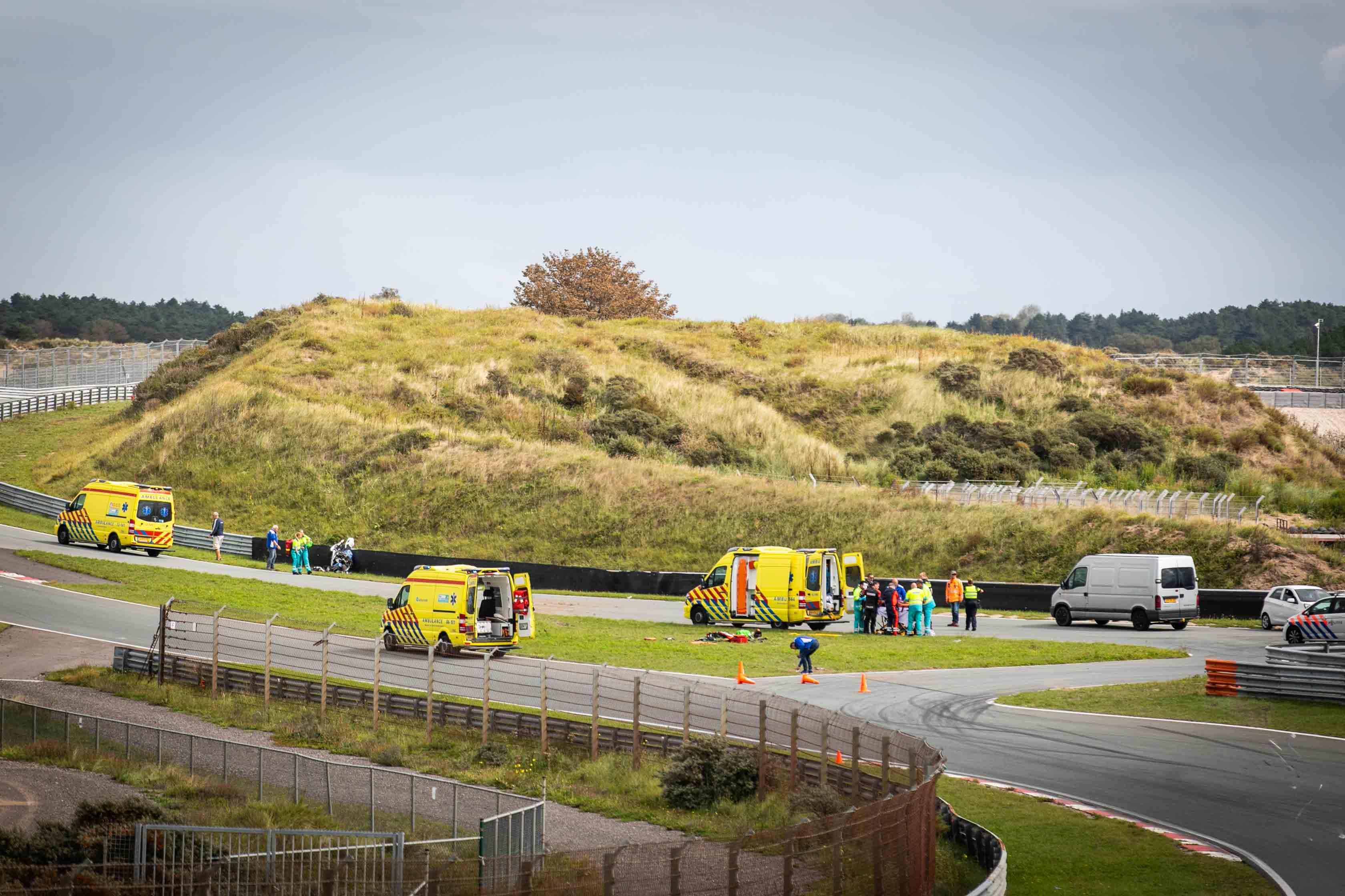 Twee gewonden bij crash op Circuit Zandvoort