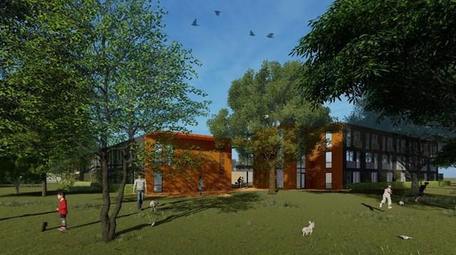 Ymere wil 43 betaalbare woningen op plek Vennepse Rehobothschool, Haarlemmermeers college ziet plannen zitten