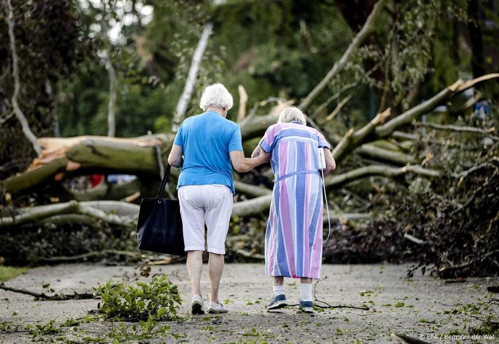 'Levensgevaarlijke situaties in bossen rond Leersum door storm'
