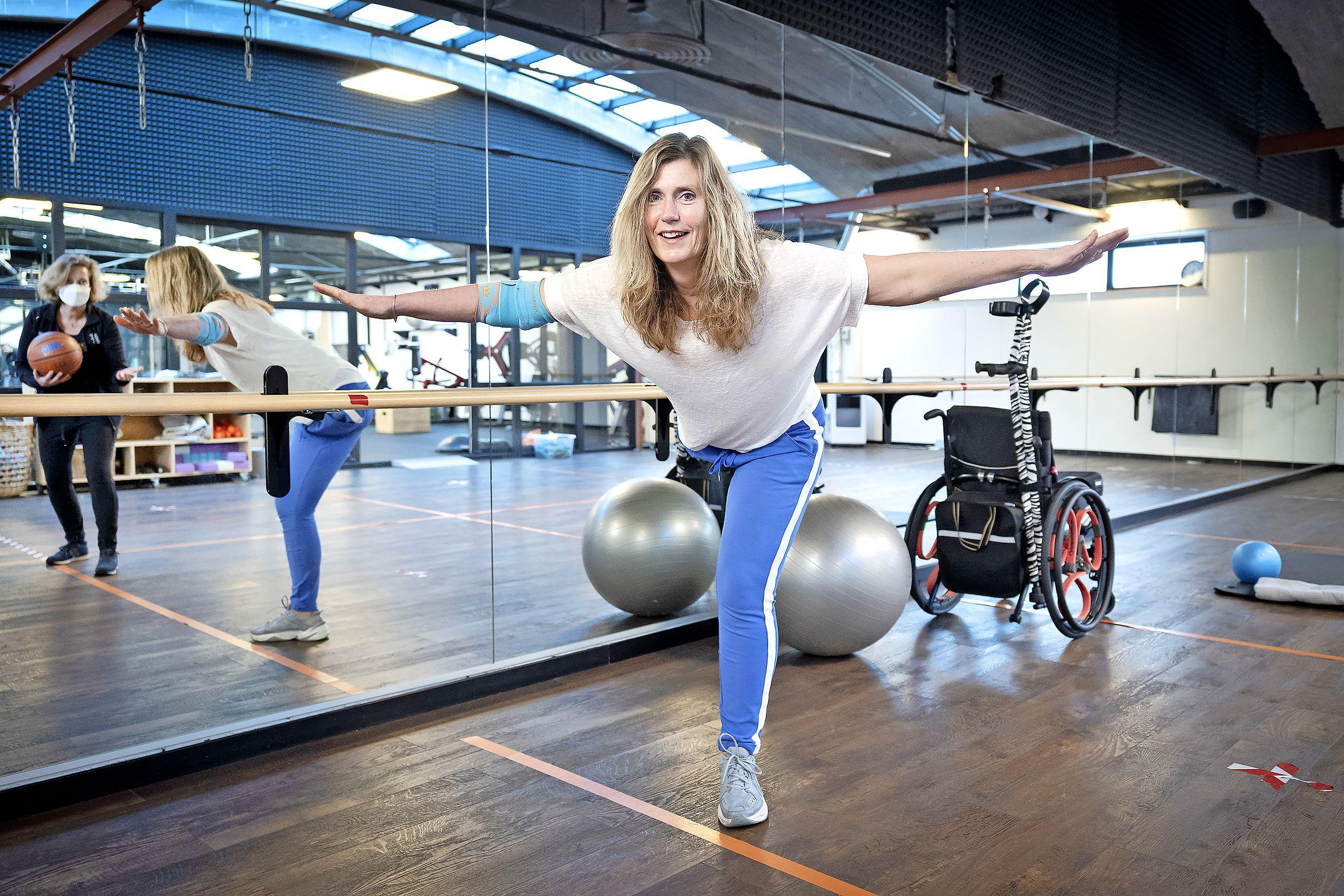 Na amputatie: Ilse Moerkerk uit Haarlem is blij met elke stap die ze kan zetten