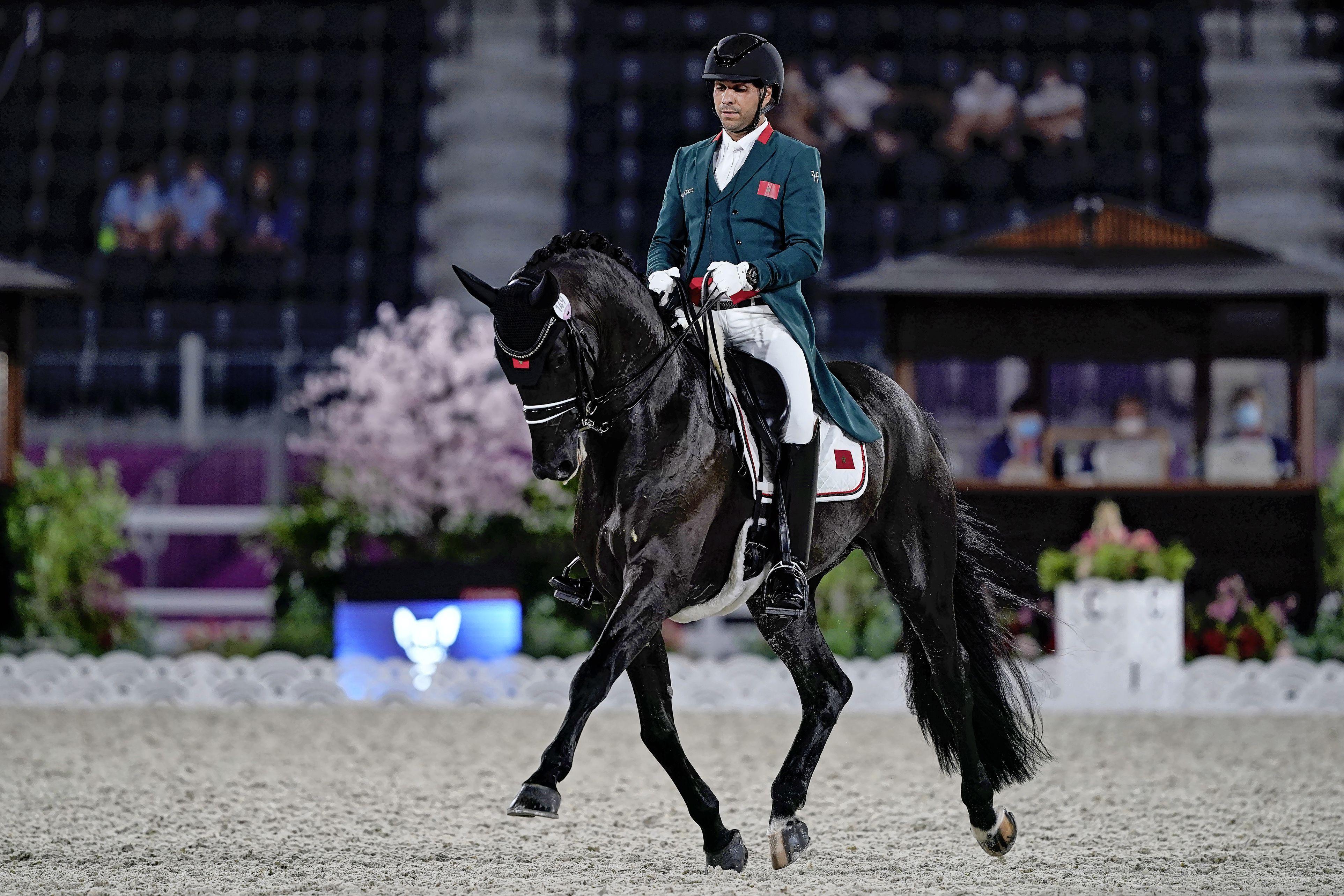 Het olympische sprookje van Yessin Rahmouni, de Haarlemse dressuurruiter die namens Marokko de droom van zijn vader waarmaakte